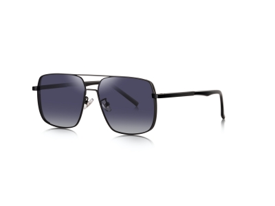 7076 oversize men metal sunglasses
