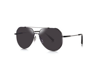 7078 rimless aviator sunglasses